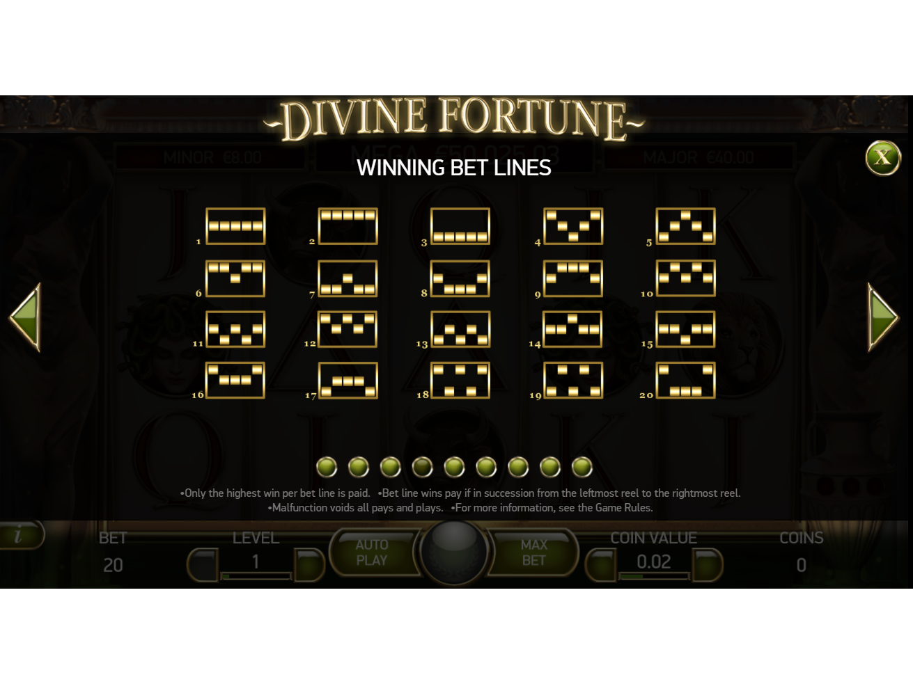 play Divine Fortune online