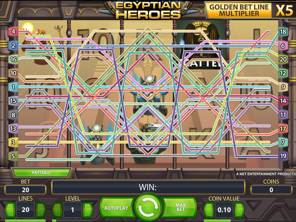 play Egyptian Heroes online
