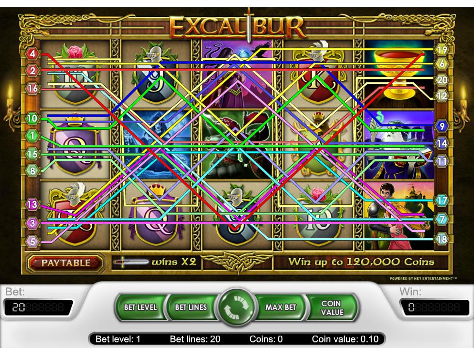 Jetzt Excalibur online spielen