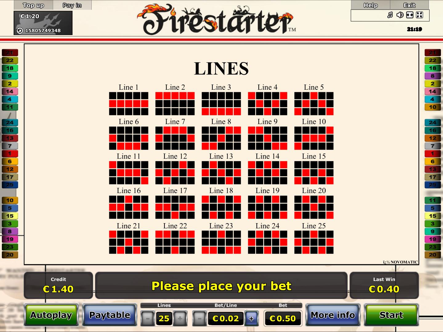 Jetzt Firestarter online spielen