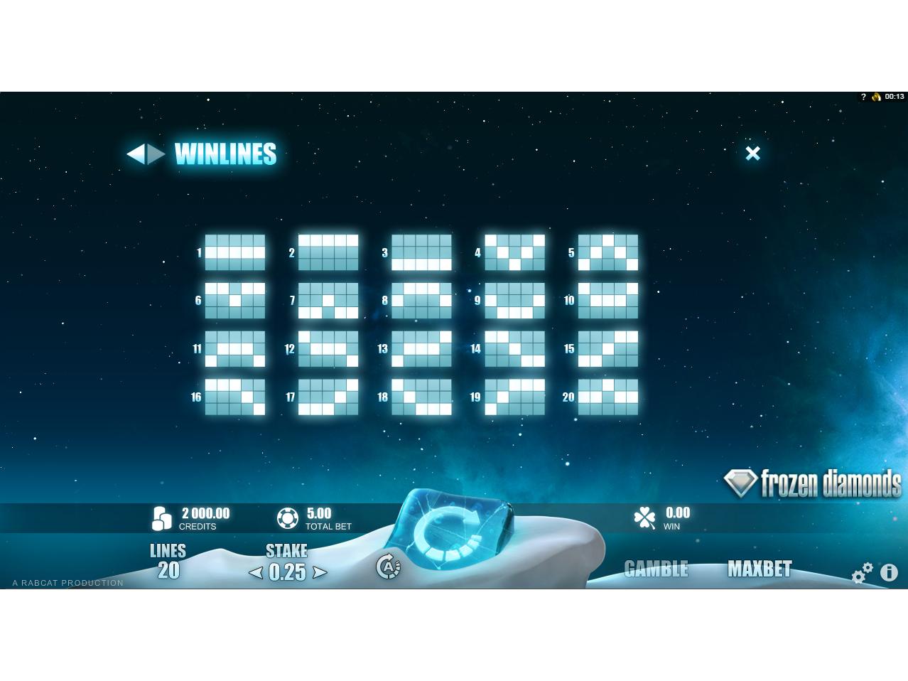 Jetzt Frozen Diamonds online spielen