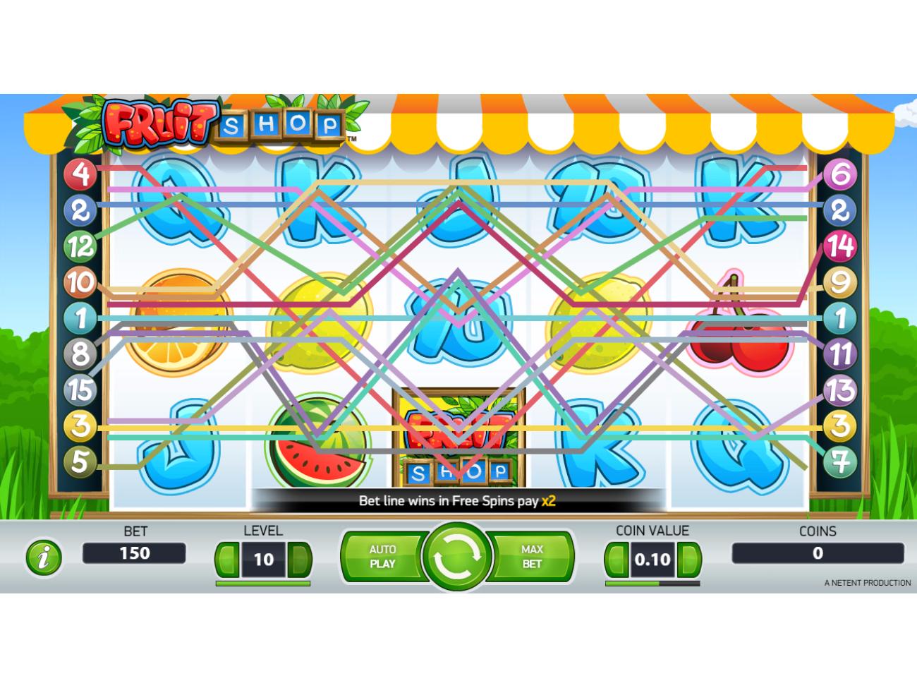 Jetzt Fruit Shop online spielen