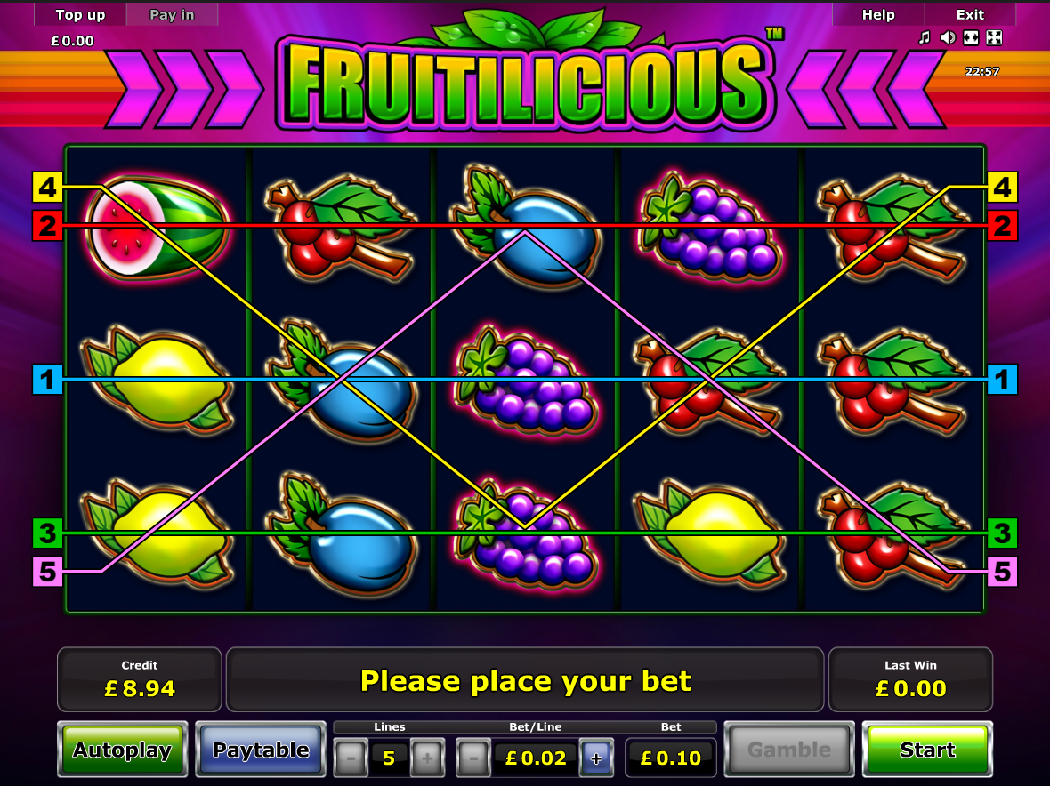 play Fruitilicious online