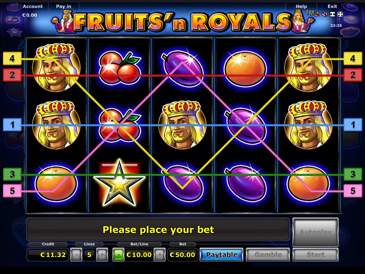 Jetzt Fruits 'n Royals online spielen