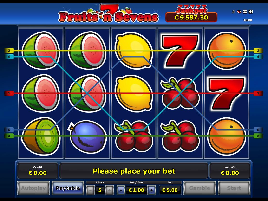 Jetzt Fruits 'n Sevens online spielen
