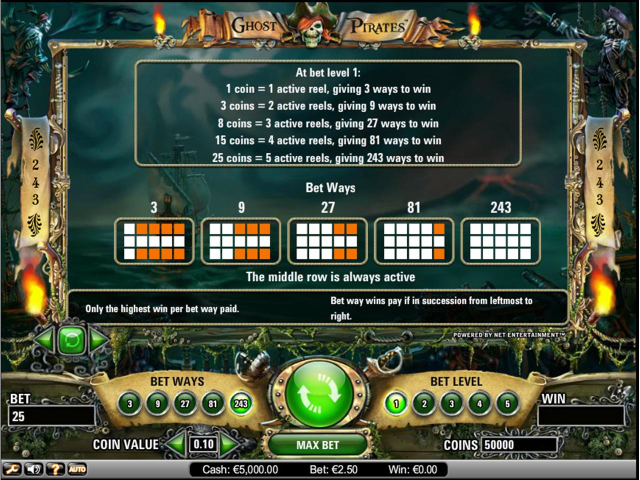 Jetzt Ghost Pirates online spielen