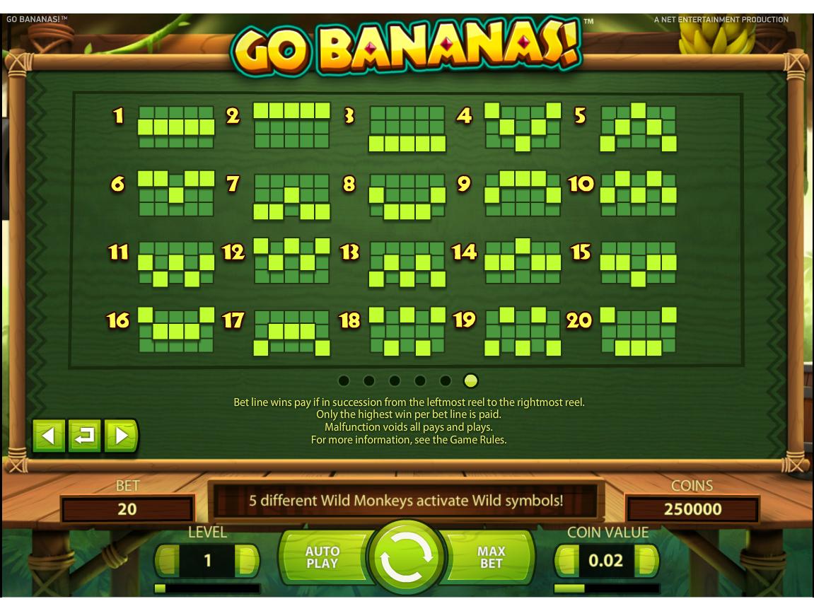 Jetzt Go Bananas! online spielen