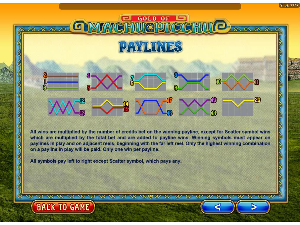 Jetzt Gold of Machu Picchu online spielen