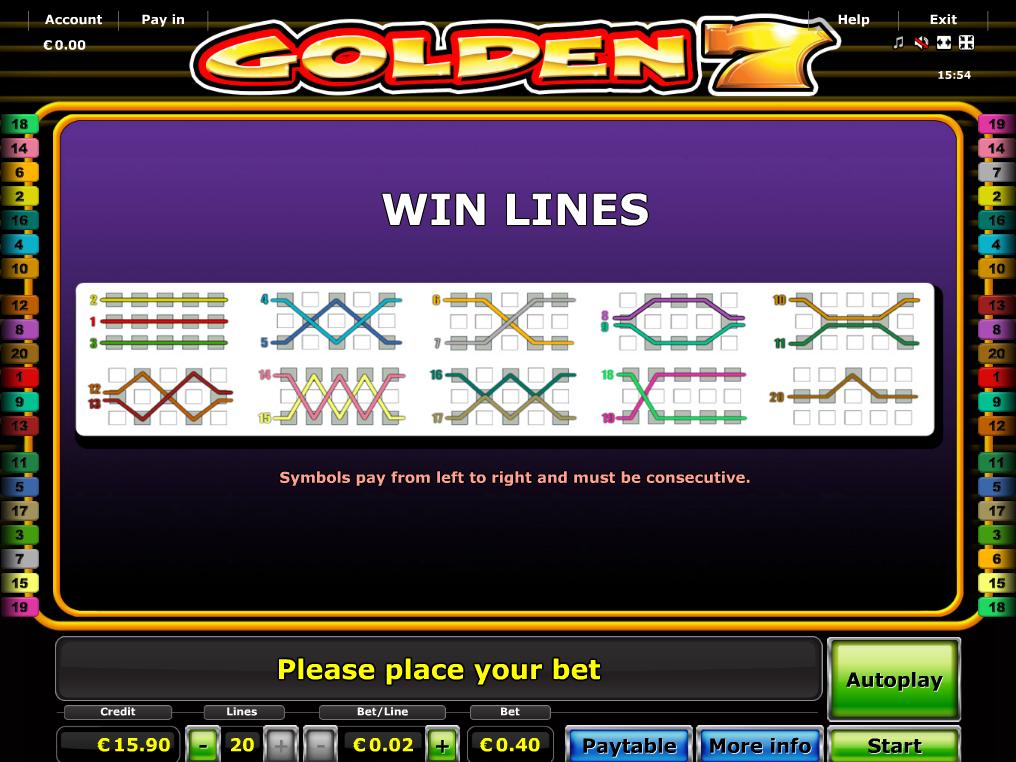 Jetzt Golden 7 online spielen