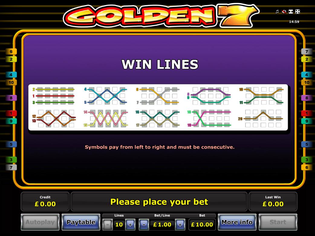 play Golden 7 online