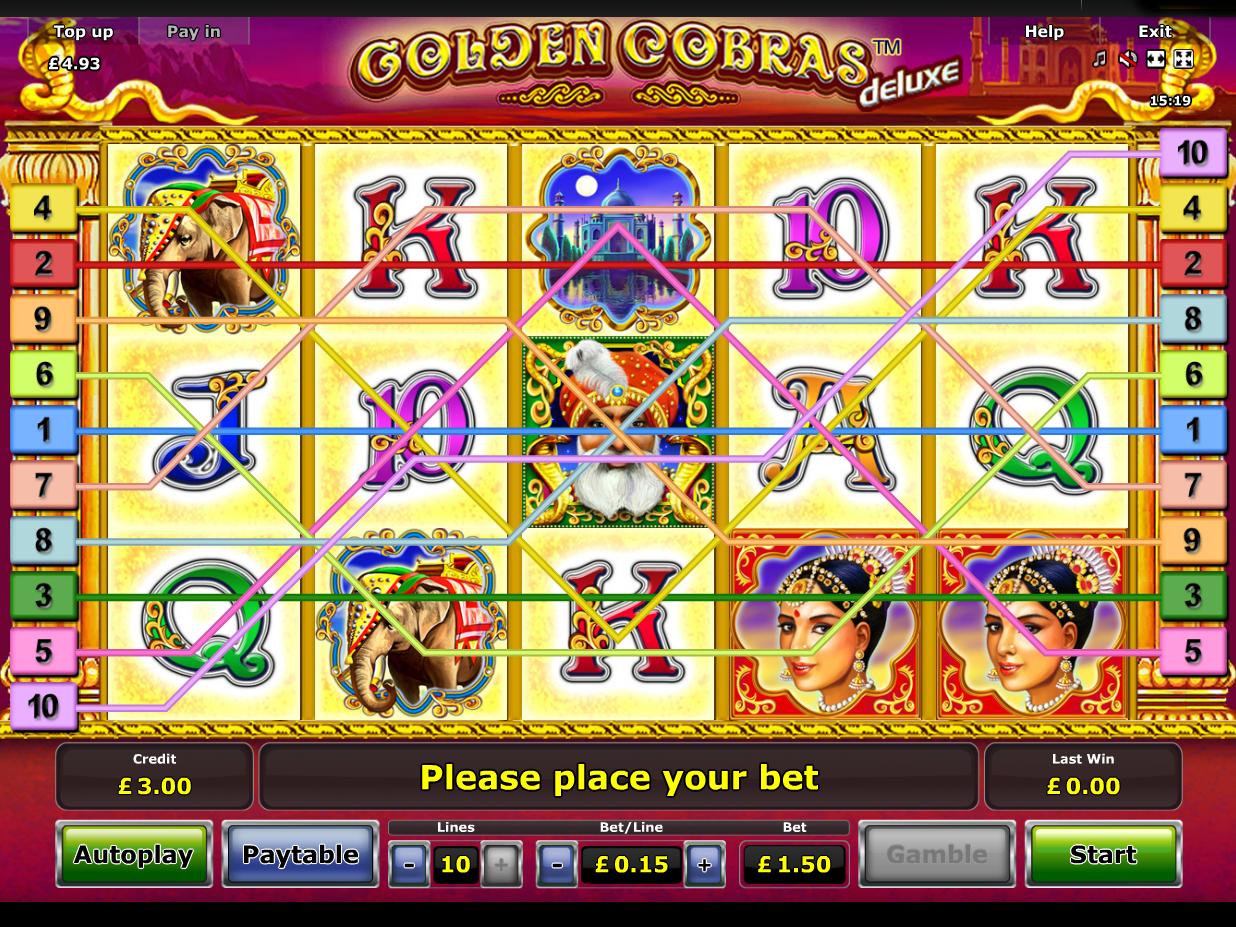 play Golden Cobras Deluxe online