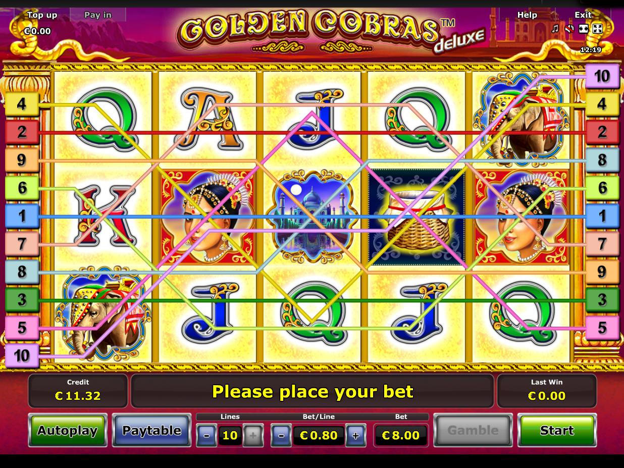 Jetzt Golden Cobras Deluxe online spielen