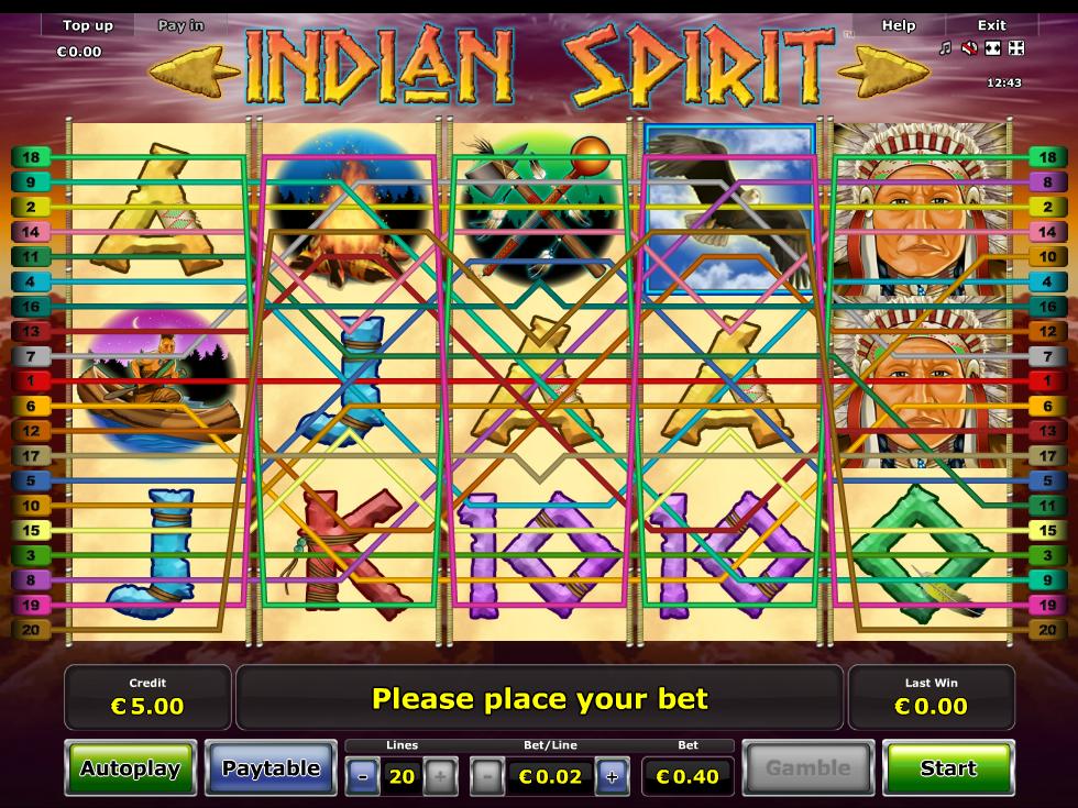 Jetzt Indian Spirit online spielen