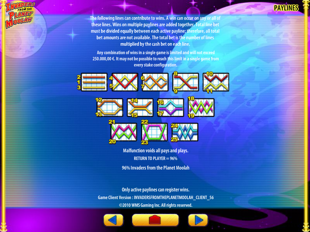play Invaders from the Planet Moolah online