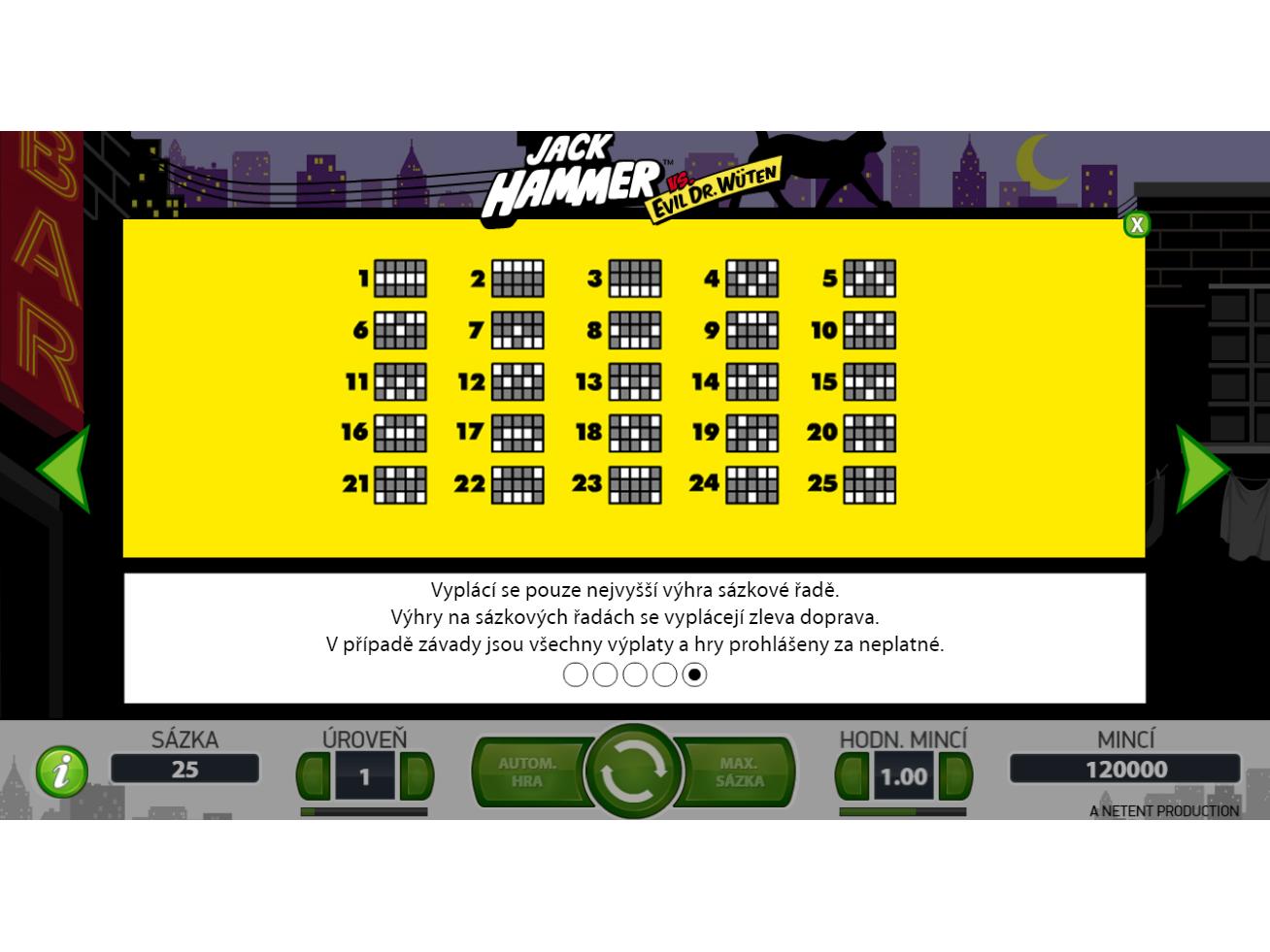 Jack Hammer online za skutečné peníze