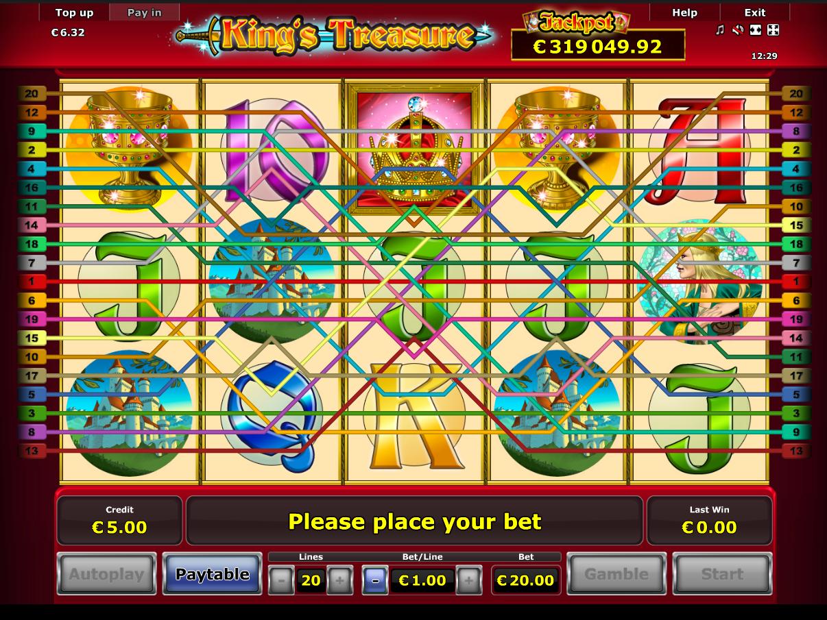 Jetzt King's Treasure online spielen