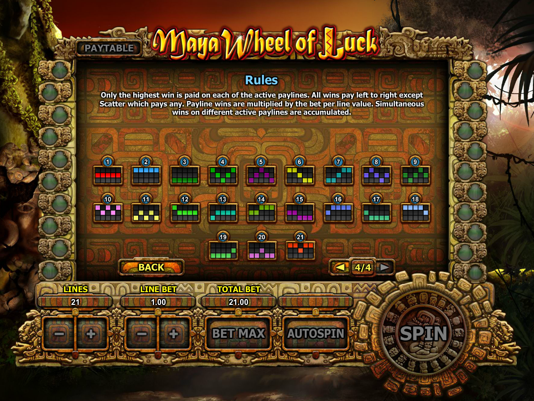 play Maya Wheel of Luck online