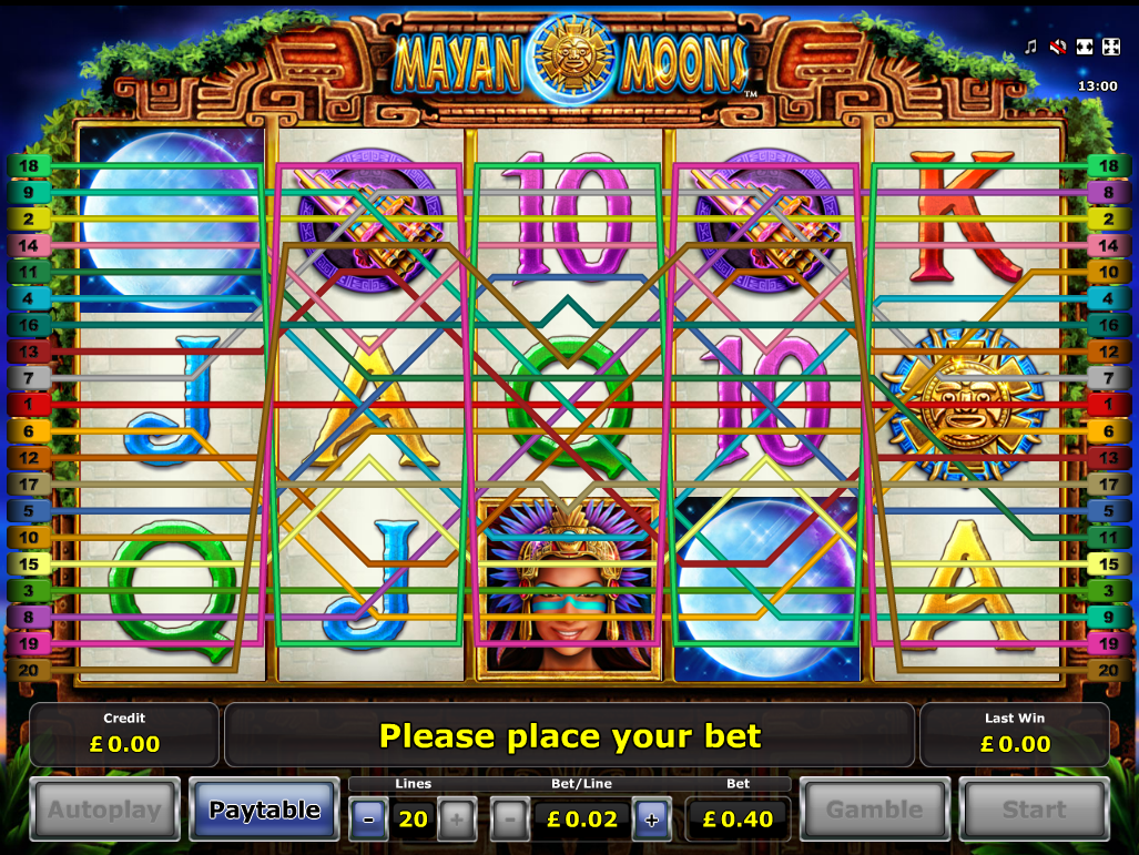play Mayan Moons online
