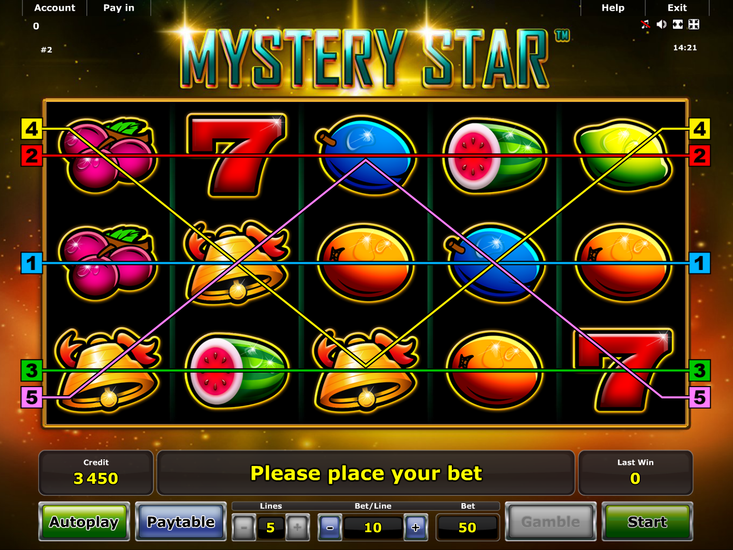play Mystery Star online