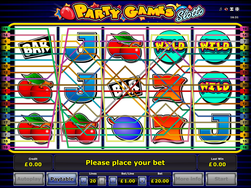 play Party Games Slotto online