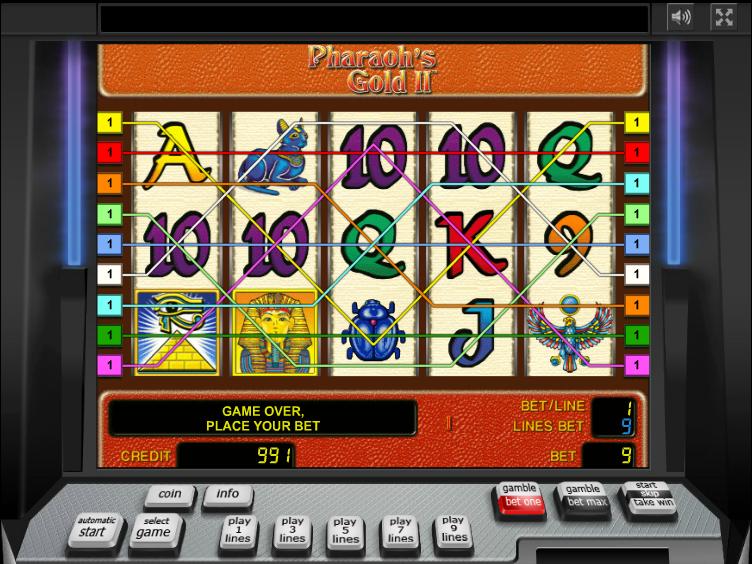 Jetzt Pharaoh's Gold II online spielen