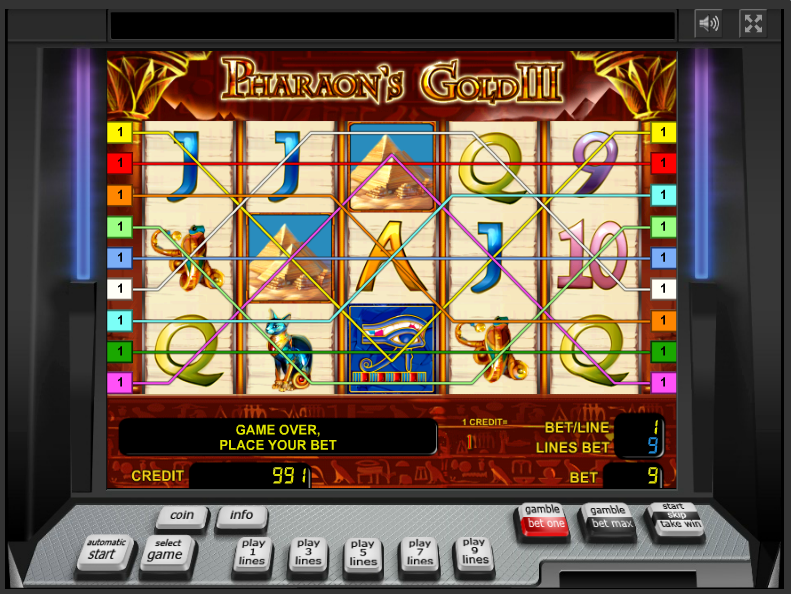play Pharaoh's Gold III online