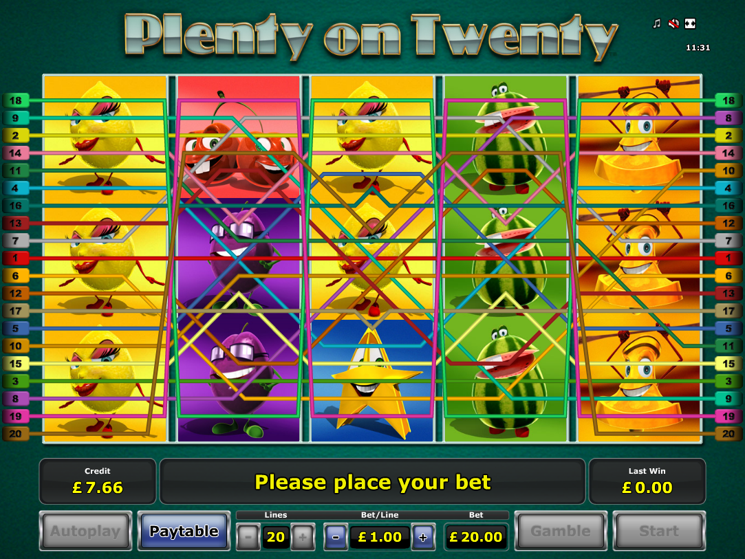 play Plenty on Twenty online