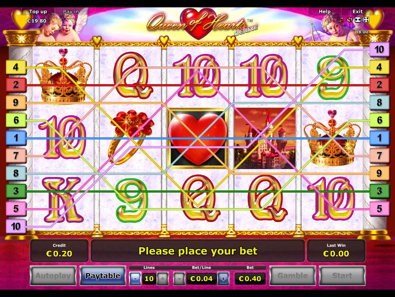 Jetzt Queen of Hearts Deluxe online spielen