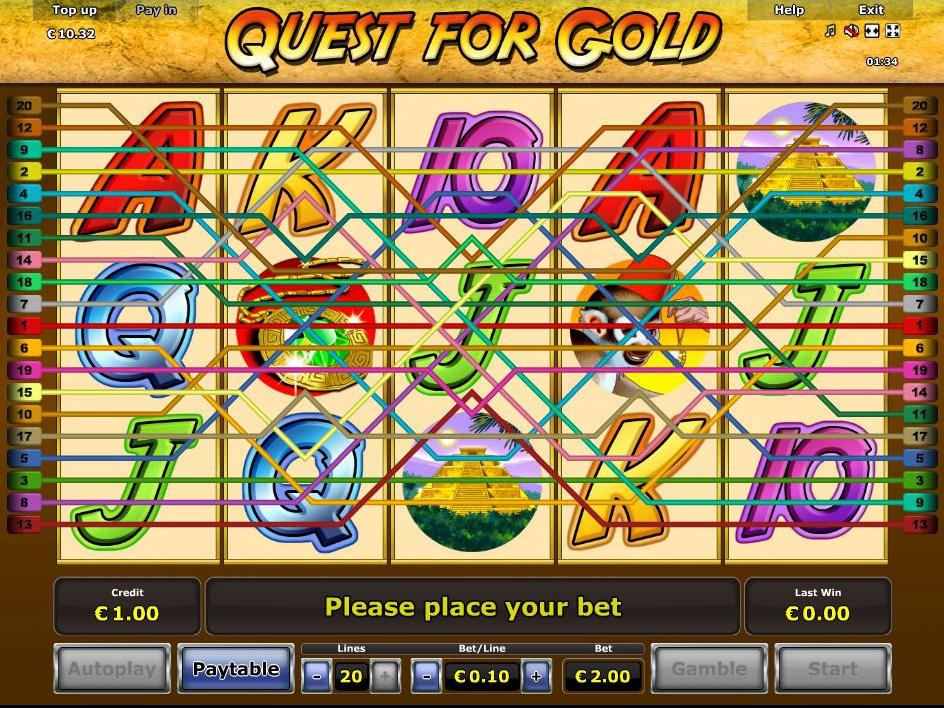 Jetzt Quest for Gold online spielen