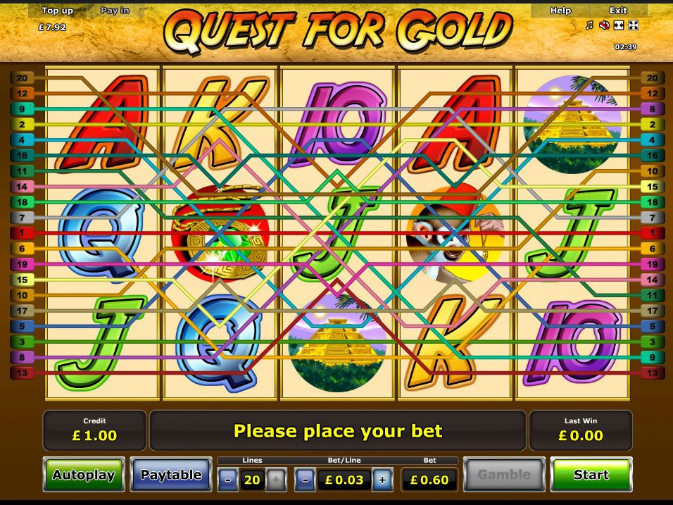 play Quest for Gold online