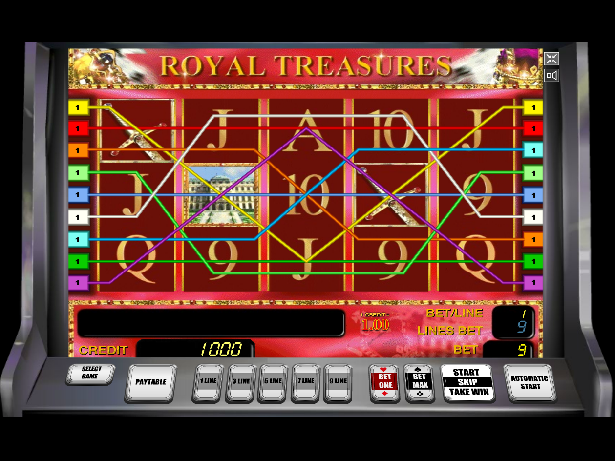 play Royal Treasures online
