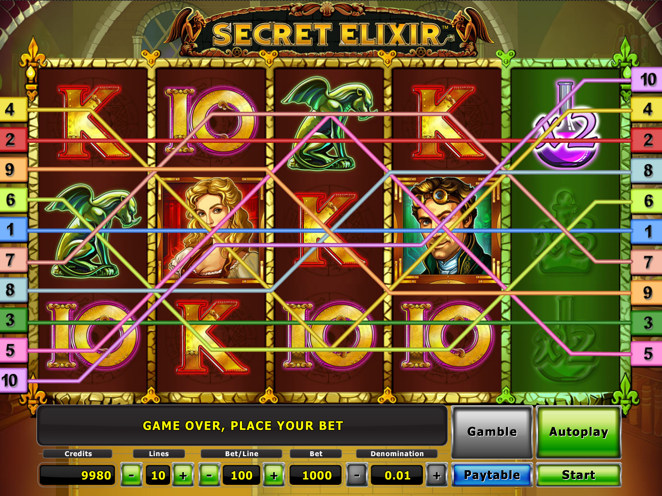 play Secret Elixir online