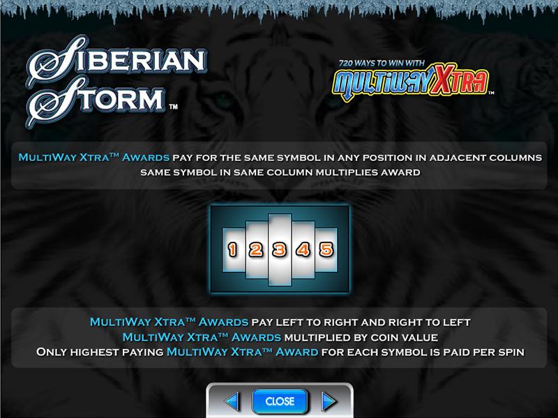 play Siberian Storm online