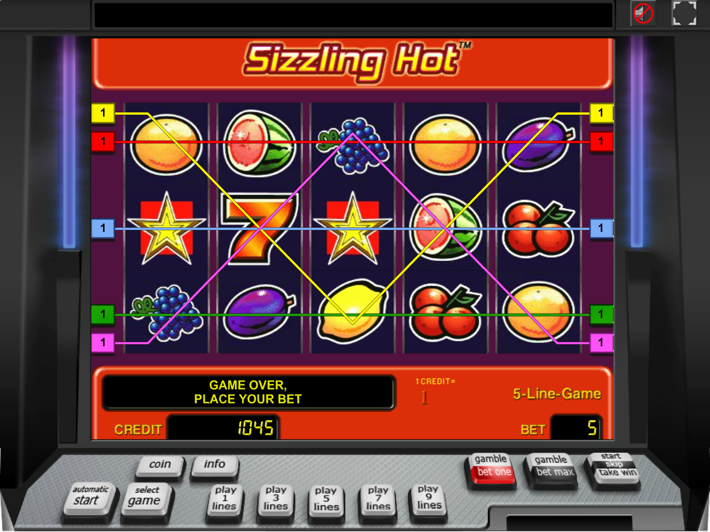 play Sizzling Hot online