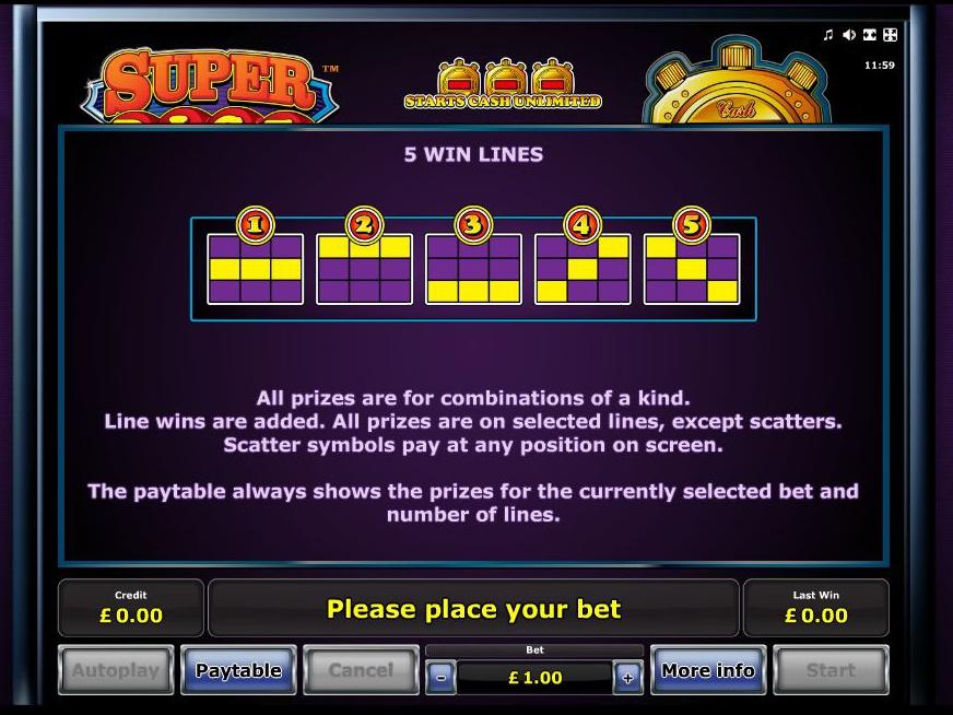 play Super Dice online