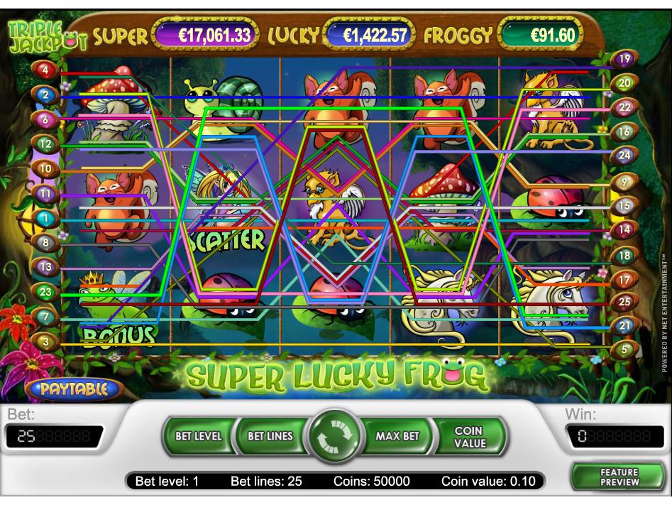 Jetzt Super Lucky Frog online spielen