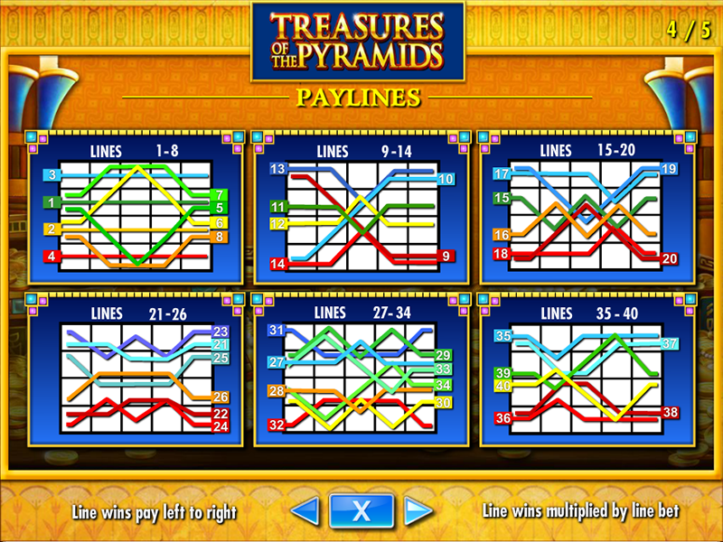 play Treasures of the Pyramids online