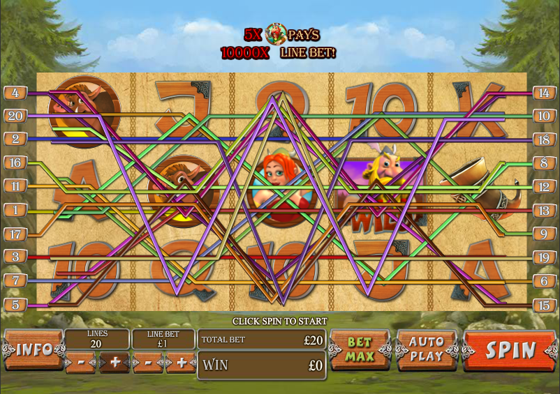 play Vikingmania online