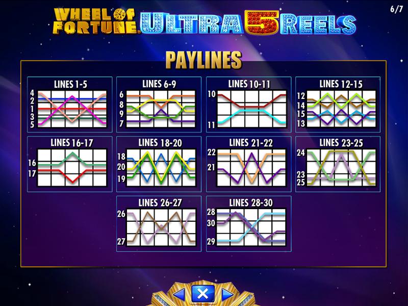 play Wheel Of Fortune: Ultra 5 Reels online