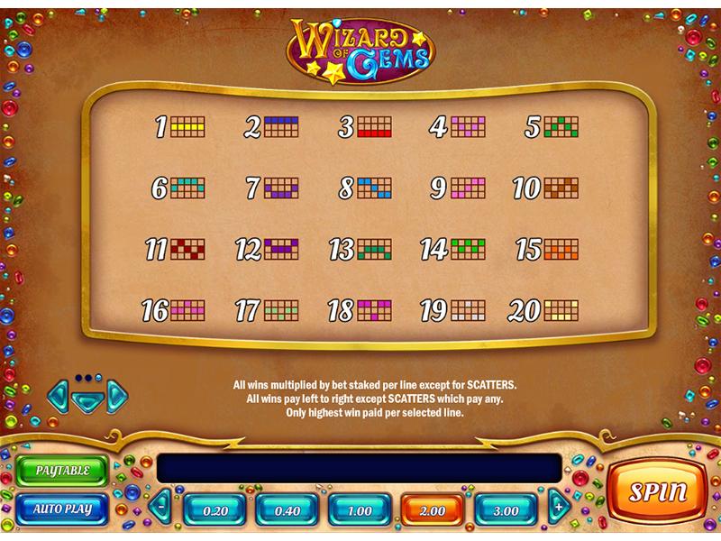 Jetzt Wizard of Gems online spielen
