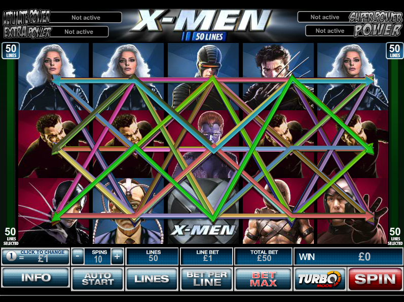 play X-Men 50-Line online