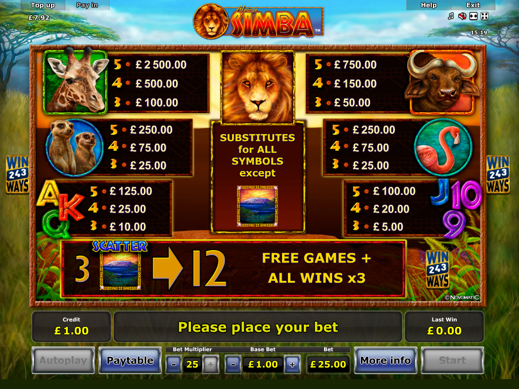African Simba online free