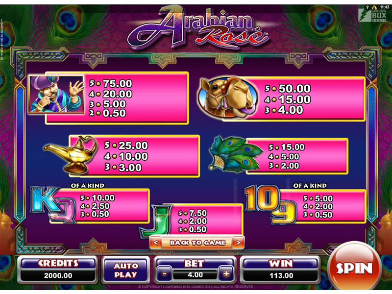 Arabian Rose online free