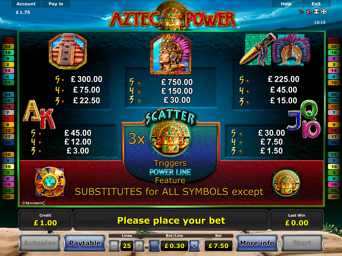 Aztec Power online free