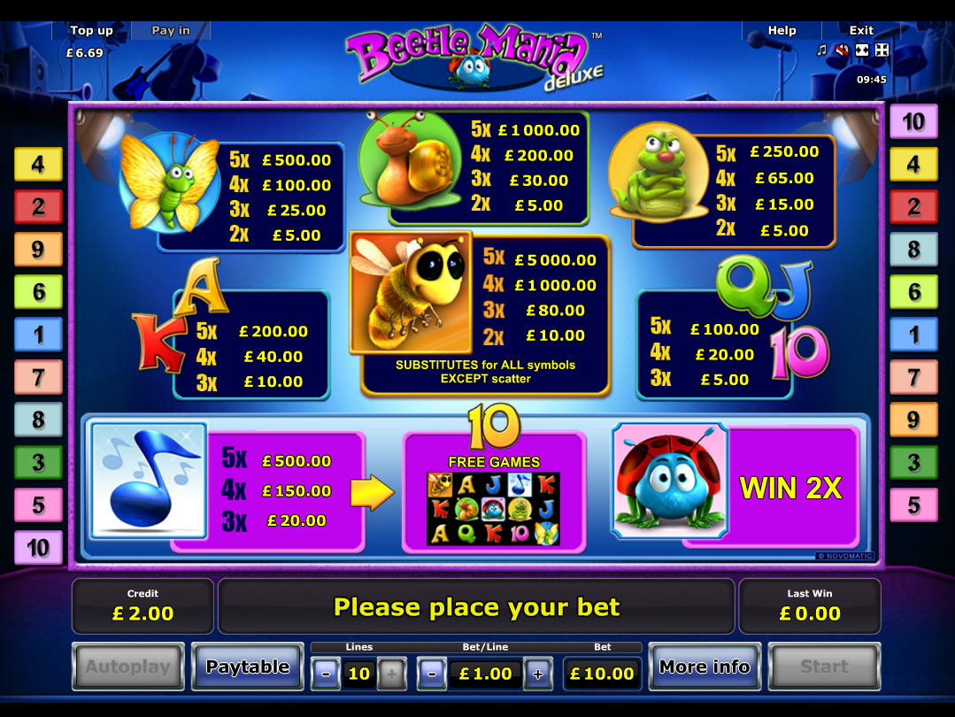 Beetle Mania Deluxe online free