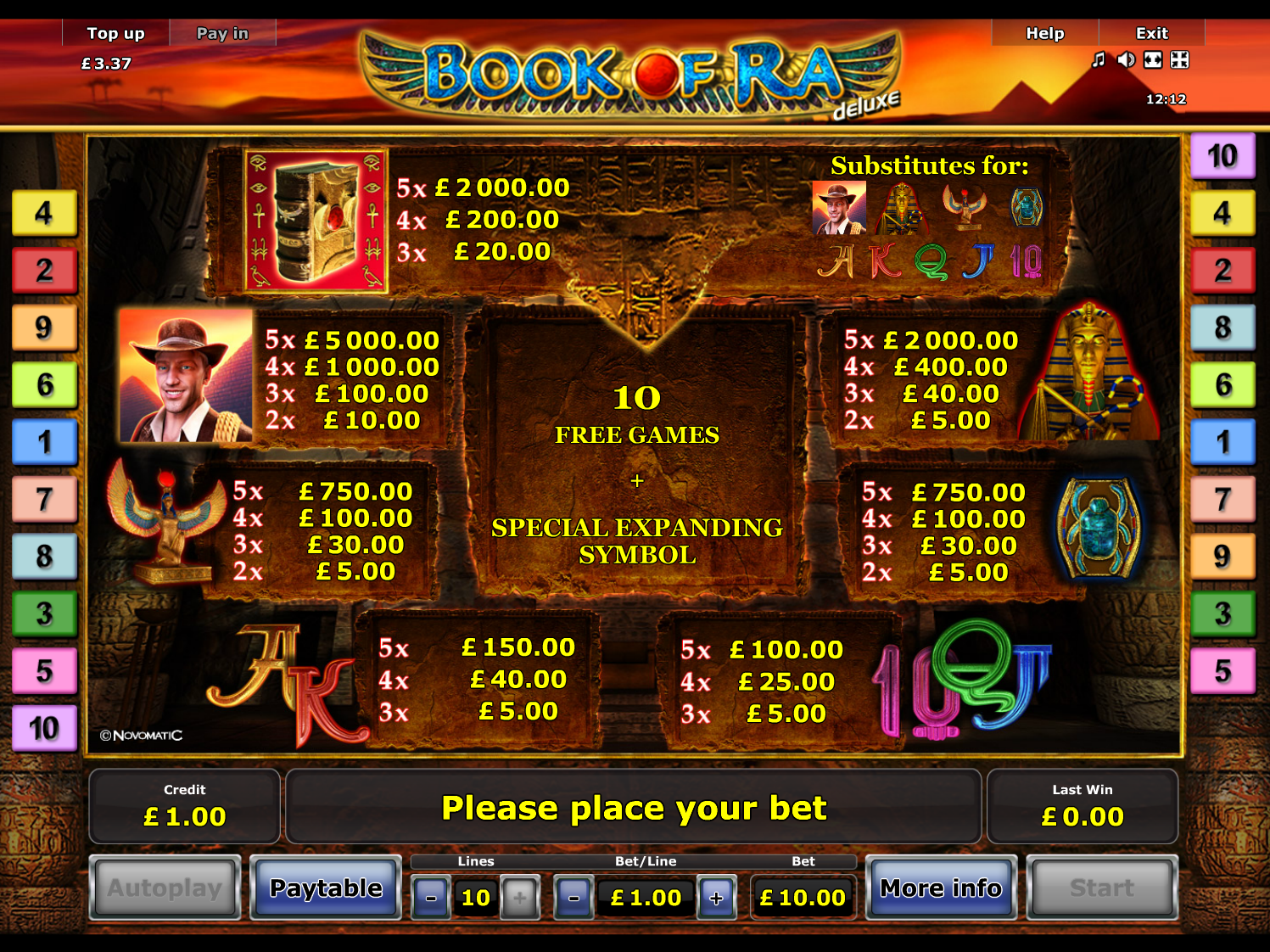 Book of Ra Deluxe online free