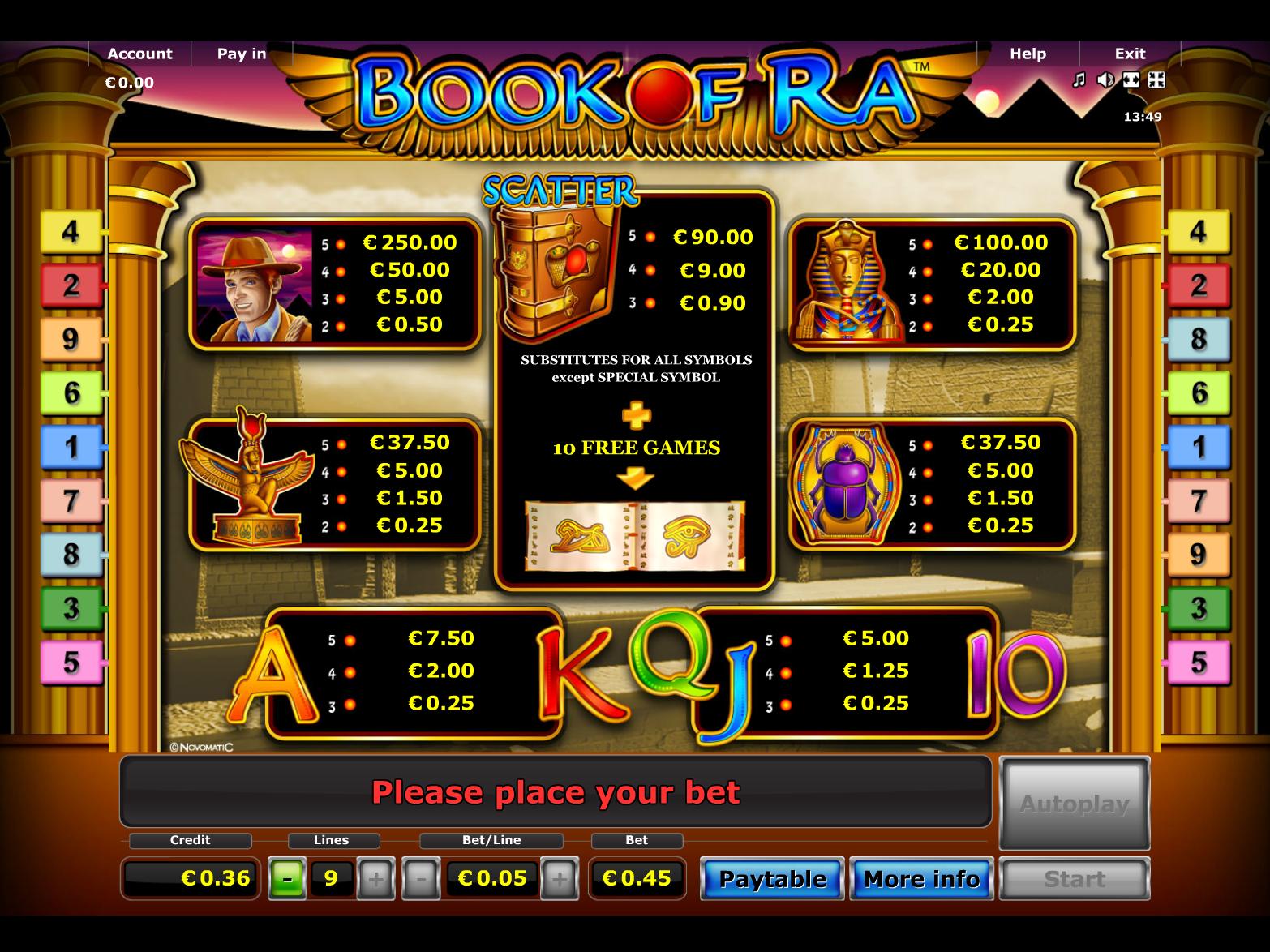 Book of Ra online kostenlos