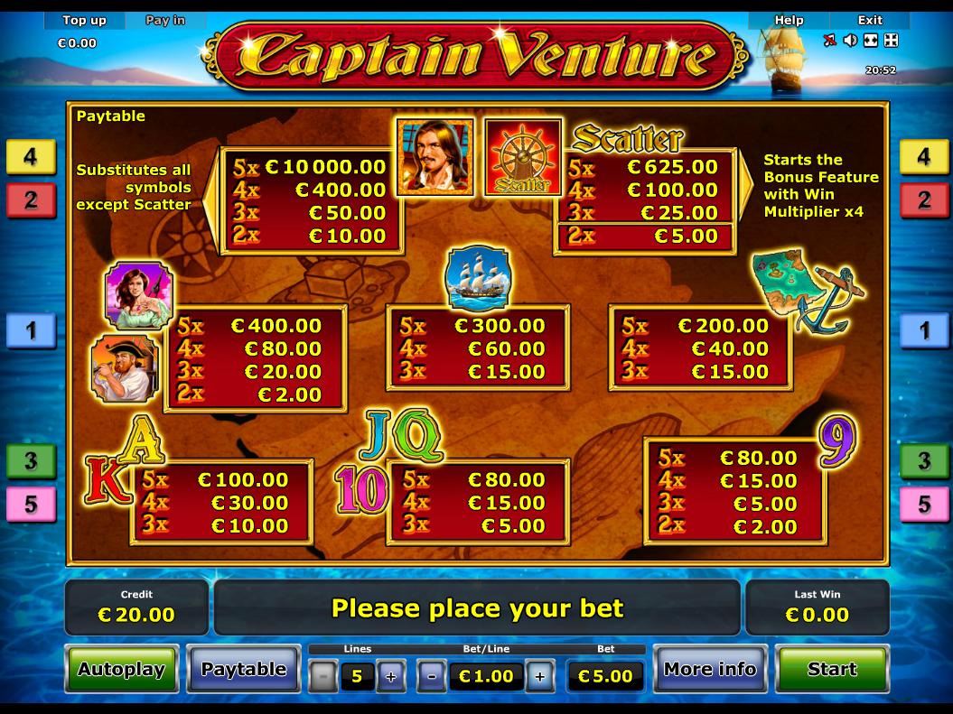 Captain Venture online kostenlos