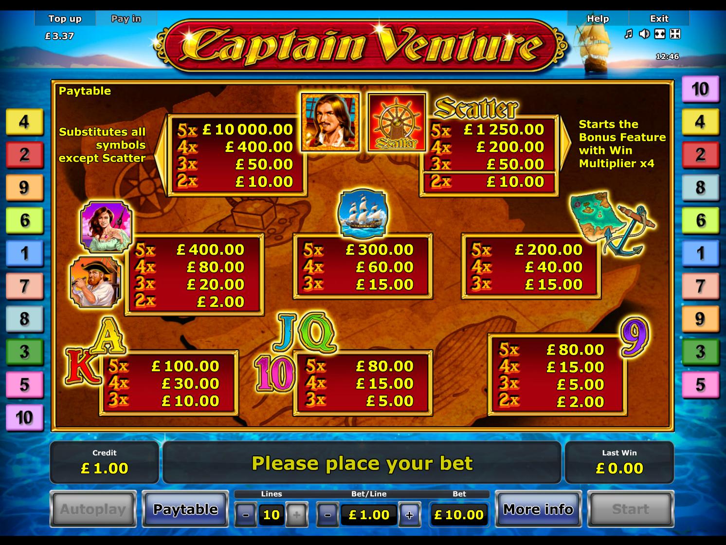 Captain Venture online free