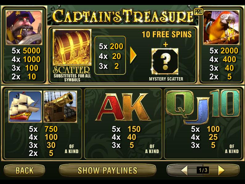 Captain's Treasure Pro online free